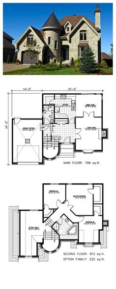 Victorian House Plan 48135   Total Living Area: 1610 sq. ft., 3 bedrooms & 1.5 bathrooms. #houseplan #victorianstyle