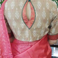 brown ikat blouse back