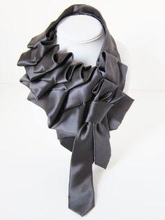 beautifully ruffled neckties