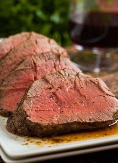 Buttery, rich, roast beef tenderloin. So easy and impressive! Make a restaurant quality meal for your special dinner. Serve with cognac Dijon sauce.