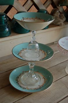 upcycle old china dinnerware   upcycled chic i recently made these cake stands from antique vintage ...