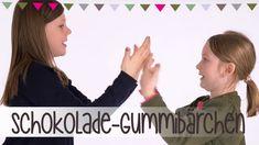 Schokolade / Gummibärchen   Klatsch-Spiel Anleitung