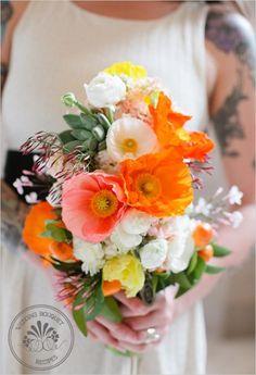 Poppy Succulent Bouquet