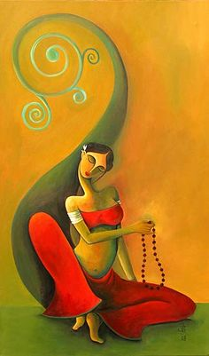 Indian Art Paintings, Modern Art Paintings, Krishna Painting, Krishna Art, Madhubani Art, Indian Folk Art, India Art, Foto Art, Mural Art