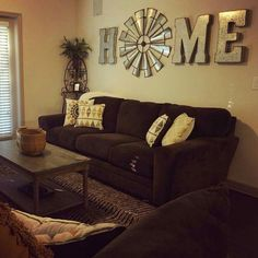 Western Home Decor Ideas . Western Home Decor Ideas . there S No Place Like Home Windmill Decor Fun Western Living Rooms, Living Room Decor Country, Home Living Room, Country Wall Decor, Kitchen Living, Cozy Living Room Warm, Windmill Decor, Windmill Clock, Decoration Ikea