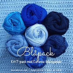 Catania Blåpack - in the blue color range Catania, Delft, Ribbon, Packing, Diy Projects, Throw Pillows, Knitting, Crochet, Fabric