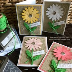 #daisydelight #daisypunch #bonniestaped #stampinp #notecards