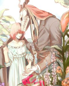 Best couple award goes to Chise and Elias, Thanks guyz Fanarts Anime, Anime Manga, Anime Art, Me Me Me Anime, Anime Love, Elias Ainsworth, Chise Hatori, Tamako Love Story, Geeks