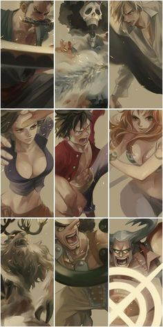 Strawhats/Zoro,Sanji,Nami, Robin,Franky,Luffy,Usopp, Brook,Chopper/One piece