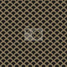 """Papier peint """"nippon, modèle, sans couture - seamless vector pattern japonais. d'onde orientale traditionnelle. noir et or"""" ✓ Un large choix de matériaux ✓ Impression écologique 100% ✓ Regardez des opinions de nos clients !"""
