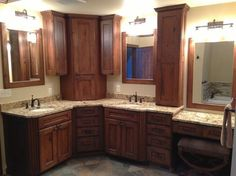 Dura Supreme Cabinetry - traditional - kitchen cabinets - LOVE THIS LAYOUT