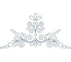 Výšivka Záhorie - obrys, modrá, 24 x 18 cm