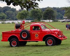 Forest Fire Service Truck