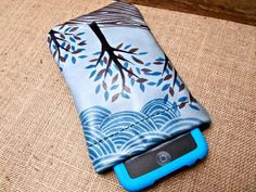 Cell Phone Case Leather Arbor Day Tree Print in by Hollyhawk, $31.50