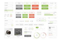 Flat Stroke UI Kit - Web Elements - 1