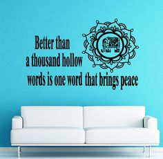 Wall Decal Quote Vinyl Sticker Decal Art Home Decor Mural Decals Quotes Better Than A Thousand Hollow Yoga Buddha Flower Elephant Decal MS87