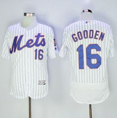 623f72457 Mets  16 Dwight Gooden White(Blue Strip) Flexbase Authentic Collection  Stitched MLB Jersey