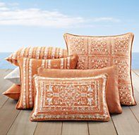 Corsica Outdoor Pillow Collection Clementine   Perennials Corsica Pillow  Collection   Restoration Hardware
