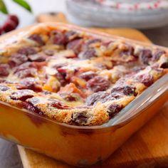 Découvrez la recette du clafoutis de cerises congelés
