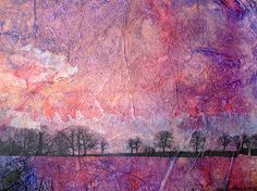 Mixed Media - layers, painting, photograph on tissue paper.
