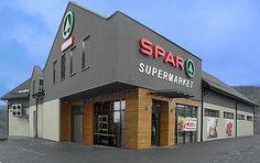 Niedawno wybudowany supermarket w Stryszawie
