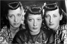 Dutch-Hungarian born sisters, naturalized Italian, Alexandrina Leschan (Alessandra Lescano), Judik Leschan (Giuditta Lescano) and Catharina Leschan (Caterinetta Lescano): 'Trio Lescano'.