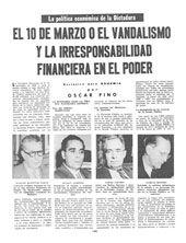 """Facsímil de la páginadonde se publicó en Bohemia  el reportaje """"La Política Económica de la Dictadura"""""""