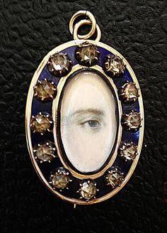 Georgian Miniature Lover's Eye Portrait Brooch - Pendant c. 1800s | Jewelry & Watches, Vintage & Antique Jewelry, Fine | eBay!