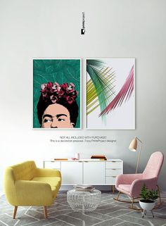 Frida Kahlo Art, Poster Frida Kahlo, Frida Kahlo Portrait, Celebrity Portrait, Pop Art, Frida Kahlo, Celebrity Posters, Digital Download | by #PrintsProject