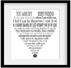 """Personalized Wedding Vows. Modern Typography Giclee Art print. 11x14"""""""