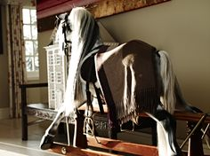 Very snug rocking horse in our cashmere.