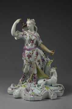 Diana with a Hunting Dog  The Derby Porcelain Factory, 1755-1760  The Victoria & Albert Museum