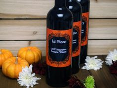 Custom Wine Bottle Labels Personalized Wine Label Halloween Wine Gift Costume Contest