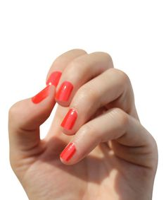 Look at this #zulilyfind! Solid Poppy Nail Wrap - Set of Two #zulilyfinds