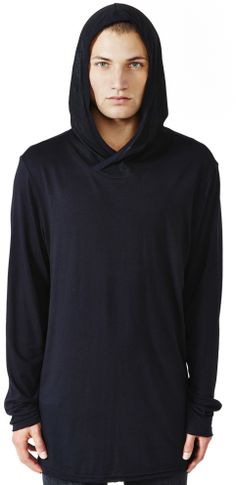 Mens - Outerwear - No Face Wax Hood T-hoodie