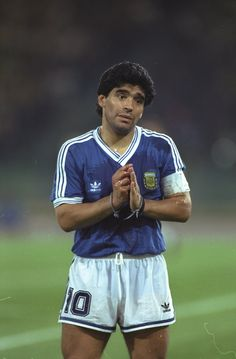 Diego Armando Maradona (Argentina) during the 1990 FIFA World Cup Final, West Germany vs Argentina on 8 July 1990 at the Olympic Stadium of Rome. Football Icon, Adidas Football, World Football, Soccer World, Sport Football, Football Shirts, Football Design, Football Match, College Football