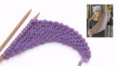 How to start working the shawl in DROPS – armstulpen stricken Free Knitting, Free Crochet, Knitting Patterns, Knit Crochet, Crochet Patterns, Crochet Hats, Knitting Increase, How To Start Knitting, Diy Crafts Crochet