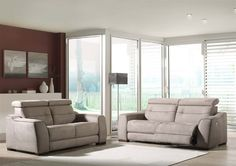 LISABON - existe en cuir et en tissu. Possibilité de relax manuels ou électriques | Meubles Nikelly