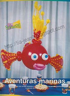 DECORACION de Globos (pez globoflexia)