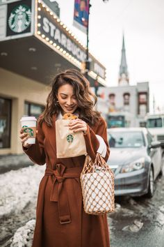 Instagram Outfits Round Up // Notjessfashion.com // Cozy Layered looks, brown robe coat, wrap coat, fishnet bag, net bag, lifestyle portrait, new york fashion blogger, asian blogger, fashion blogger, ootd, jessica wang, cozy winter looks