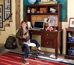 I love the Thomas Desk & Hutch on potterybarnkids.com