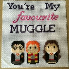 Harry Potter cross-stitch - Imgur