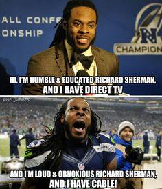 Richard Sherman Directv commercial.