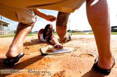 A baseball engagement session in Melbourne, Florida