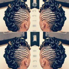 Hairstyles are somewhat more suitable and provide the gratification of distinct looks also. Faux bun hairstyles are much in vogue. Choppy hairstyles give an edgy and distinctive appearance and the … Mohawk Updo, Braided Mohawk Hairstyles, Flat Twist Hairstyles, African Braids Hairstyles, Braided Mohawk Black Hair, Faux Mohawk, Hairstyle Braid, Braid Ponytail, Braided Buns
