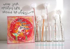 diy: magic maskingtape pompom sticks ***thanks for pinning me <3***