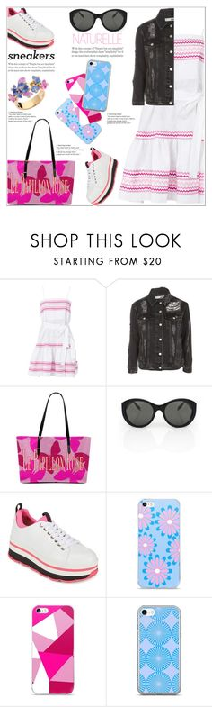 """""""Keep Your Look Fresh"""" by atelier-briella ❤ liked on Polyvore featuring Lisa Marie Fernandez, Topshop, Victoria Beckham, Prada, Pink, iPhonecases, totebag, whitesneakers and RetroSunglasses"""