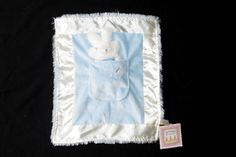 Blue Bunnies by the Bay Lulla Bunny Bye Itty Bit Security Blanket Baby Lovey TAG