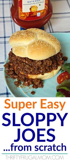 This old fashioned homemade easy sloppy joe recipe is the perfect quick family dinner They re made with basic ingredients and come together in just 30 minutes One of our favorites homemade sloppyjoes quickandeasy dinnerideas eatingonadime thriftyfrugalmom Old Fashioned Sloppy Joe Recipe, Best Sloppy Joe Recipe, Homemade Sloppy Joe Sauce, Sloppy Joes Recipe, Classic Sloppy Joe Recipe, Sloppy Joe Recipe Crock Pot, Sloppy Joes From Scratch, Easy Dinner Recipes, Easy Meals
