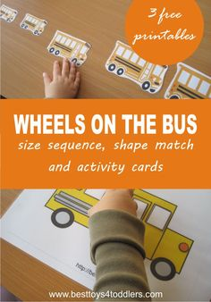 Using Wheels on the Bus nursery rhyme to learn early math concepts with toddlers